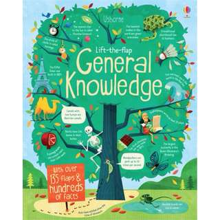 Usborne Lift the Flap General Knowledge*Educational book*Children book*Birthday gift*Pre school toy*