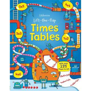 Usborne Hard Cover book*Lift the Flap Time Tables*Educational book*Children book*Birthday gift*Pre school toy*