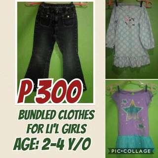bundled clothes