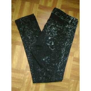 H&M DIVIDED Black Acid Wash Jeans