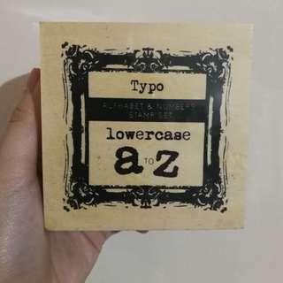 (NEW) Typo Alphabet & Numbers Stamp Set