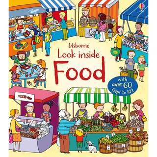 Usborne Hard Cover book*Look Inside Food*Educational book*Children book*Birthday gift*Pre school toy*