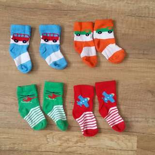 Mothercare Baby Socks 4 pairs (0-6m)