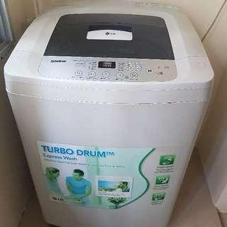 LG washer 8.5kg + 2-door LG fridge