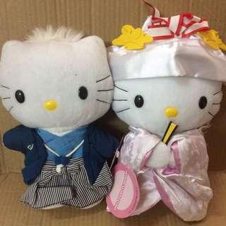 出售Hello Kitty(日式)新婚公仔一對