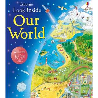 Usborne Hard Cover book*Look Inside Our World*Educational book*Children book*Birthday gift*Pre school toy*