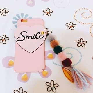 smile 彩色毛球i6手機殼