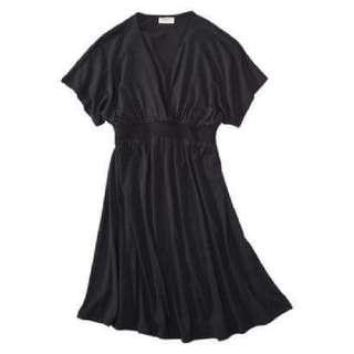 Mossimo Supply Co Juniors Smocked Waist Kimono Dress - Ebony