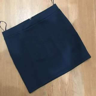 Navy Fit Skirt