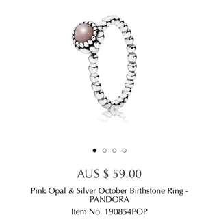 Pandora Pink Opal Ring