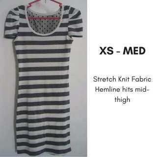 Stripe Bodycon Knit Dress