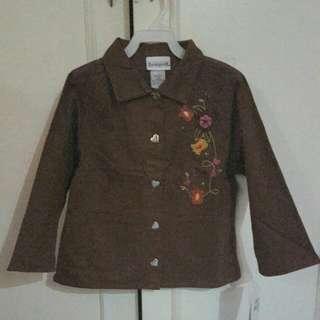 Brown Buttondown Jacket