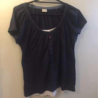 Navy Blue Esprit Shirt L