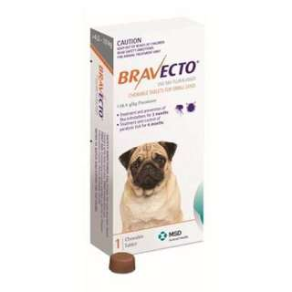 BRAVECTO FLEA AND TICK CHEW FOR SMALL DOG 4.5-10KG