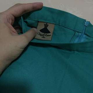 Rok Flare Local Brand Warna Turquoise
