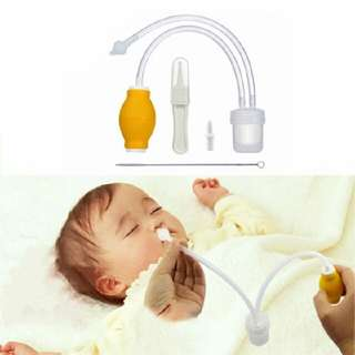 Newborn Baby Safe Soft Nasal Mucus Snot Aspirator Vacuum Suction Nose Cleaner