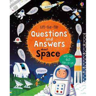 Usborne Hard Cover book*Lift the Flap Questions and Answers about Space*Educational book*Children book*Birthday gift*Pre school toy*