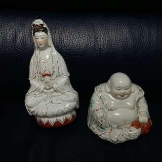 陶瓷觀音+佛地公(賣掉後 錢會用來比婆婆醫藥費 想幫得幾多得幾多 求有心人幫手)
