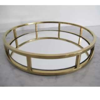 Gold / Rose Gold Round Mirrored Tray