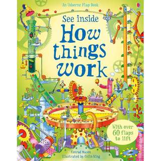 Usborne Hard Cover book*See Inside How Things Work*Educational book*Children book*Birthday gift*Pre school toy*
