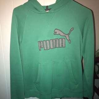 green PUMA hoodie
