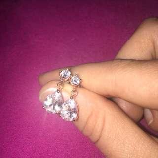 Rose Gold Dangly Diamond Earrings