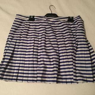 Forever New Blue And White Striped Skirt