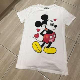 H&M  Disney 米奇短t 女款
