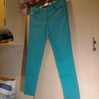 Stretch Green Skinny Jeans