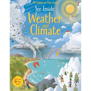 Usborne Hard Cover book*See Inside Weather and Climate*Educational book*Children book*Birthday gift*Pre school toy*