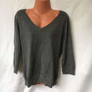 Large Knitted Grey Soft warm Grey Blouse