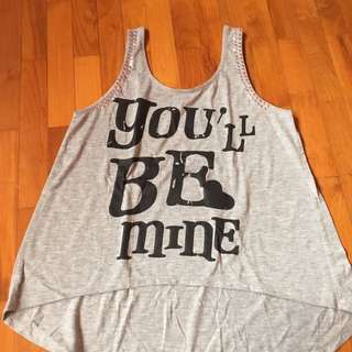Graphic Grey Tank Top