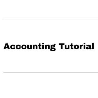 Accounting Tutorial