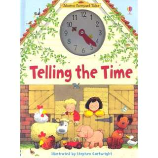 Usborne Hard Cover book*Farmyard Tales Telling the Time*Children book*Birthday gift*Pre school toy*