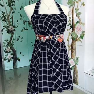 Halter Dress and Japanese Cloth Belt