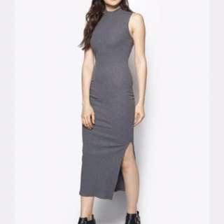 Brand New Grey Slit Dress
