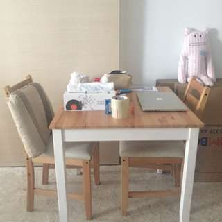 Ikea LERHAMN Table And Chairs