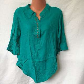 Freesize (med to large body) Thailand Bluegreen Blouse