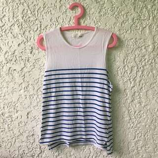 Blue Striped Muscle Tee