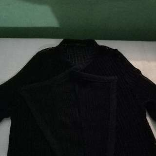 REPRICED.Black Knitted Cardigan Perfect for Beach wear