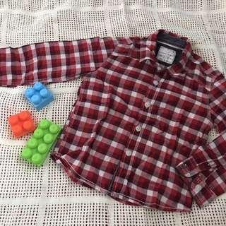 ZARA KIDS Red Checked Shirt