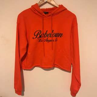 Orange cropped hoodie