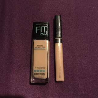Maybelline fit me foundation and concealer