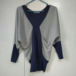 Structured Colorblock Top