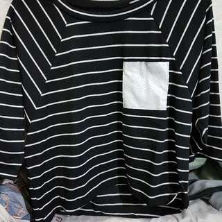 Striped Cropped Blouse