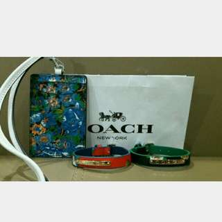 Authentic Coach Tag Holder And Bracelet