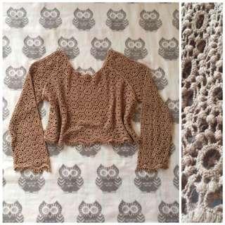 Crochet Nude Top