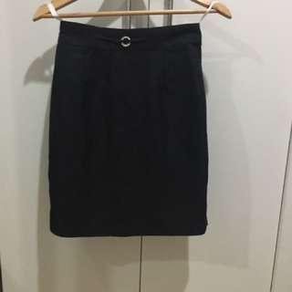 Black Office Corporate Pencil Skirt