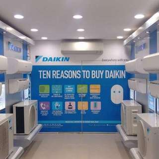 Daikin Split type aircon 1hp/1.5/2hp/2.5hp/3hp/ 50% energy savings better than window type FREE INSTALLATION/FREE 15FT COPPERTUBE CASH ON DELIVERY !!!!
