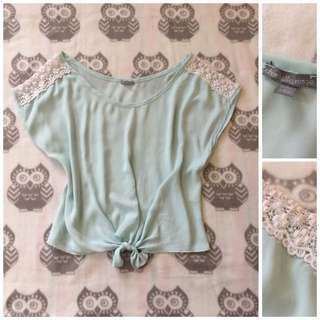 Charlotte Russe Tie Front Top